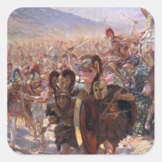 Forntida krigare fyrkantigt klistermärke