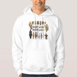 Forntida kvinnor vaggar min världsHoodie Sweatshirt Med Luva