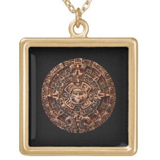 Forntida Mayan halsband för hänge för