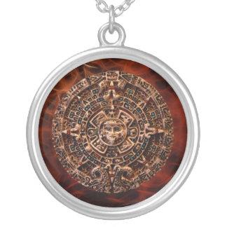 Forntida Mayan halsband för konst för