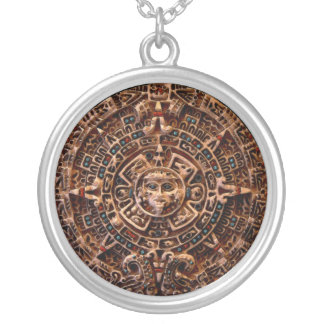 Forntida Mayan halsband för runda för