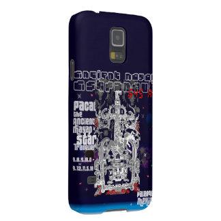 Forntida Mayan utrymmehandelsresandeastronaut Galaxy S5 Fodral