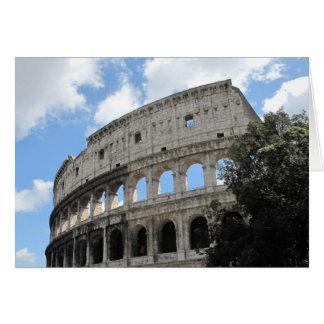 Forntida Rome Colosseum Hälsningskort