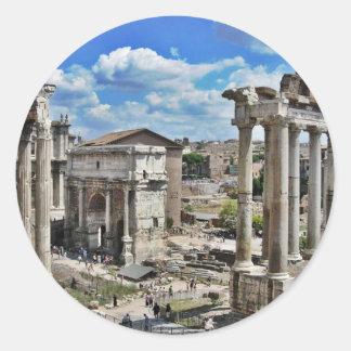 Forntida Rome Runt Klistermärke