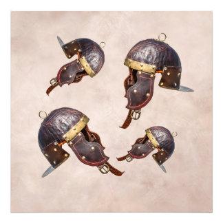 Forntida romersk militär hjälm fototryck