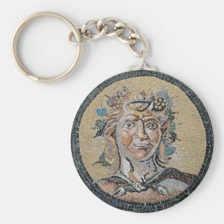 Forntida romersk Satyrmosaik Rund Nyckelring