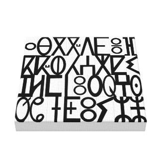 forntida språk canvastryck