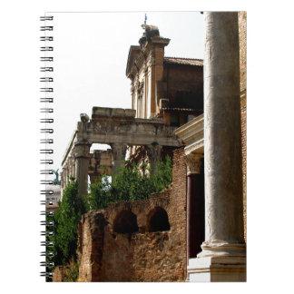 Forntida stad anteckningsbok med spiral