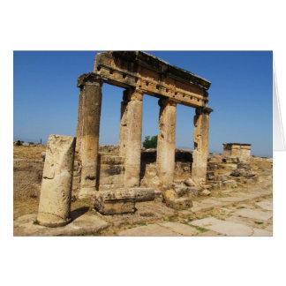 Forntida stad av Hierapolis - en pagan kult centre Hälsningskort