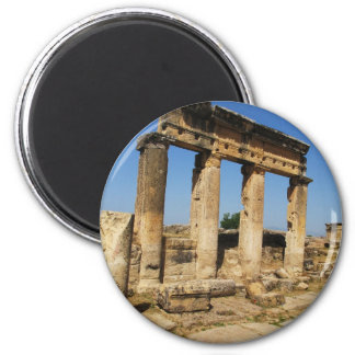 Forntida stad av Hierapolis - en pagan kult centre Magnet Rund 5.7 Cm