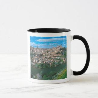 Forntida stad av Toledo, Spain. Mugg