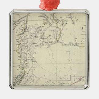Forntida Syrien till Sinai Silverfärgad Fyrkantigt Julgransprydnad