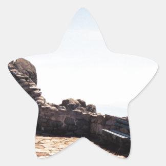 Forntida trappafodral stjärnformat klistermärke