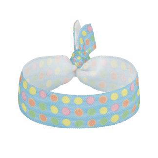 Förnya - fruktig färgrik polka dots på Aquablått Hårband