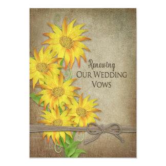 Förnya inbjudan för bröllopVows - solrosor