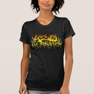 FörödelseRasta för damer 420am ogräs Tshirts