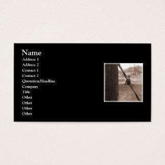 Förse med en hulling - binda visitkorten visitkort