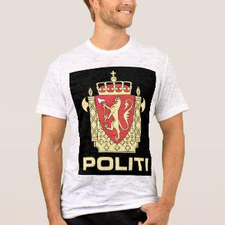 Förse med märke den tjänste- norska polisen, norge tee shirts