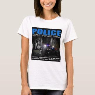 Förse med polis för att skydda och tjäna som tshirts