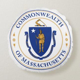 Försegla av Massachusetts Rund Kudde