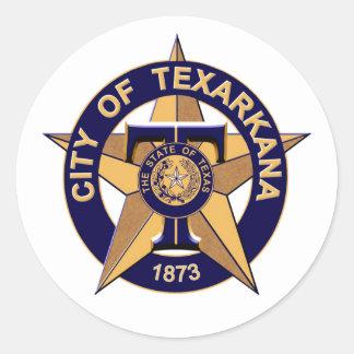Försegla av Texarkana, Texas Runt Klistermärke