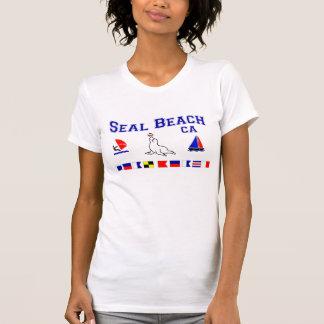 Försegla stranden CA signalerar flaggor Tröja
