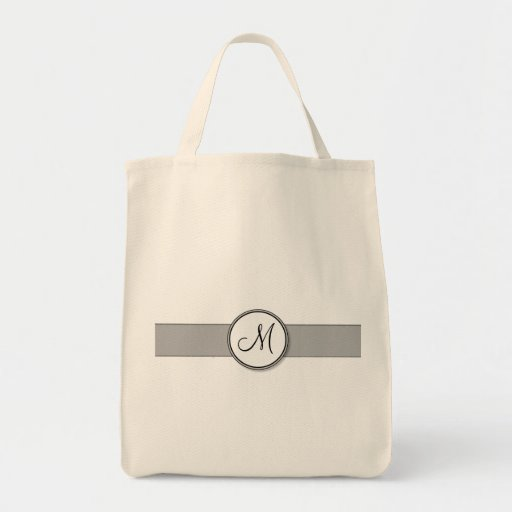 Förseglar den kluvna monogramen för anpassadet mal tote bags