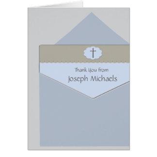 Förseglat med ett religiöst fotokort för OBS kort