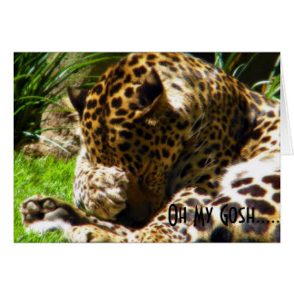 Försenade hälsningar för blyg Leopard Hälsningskort