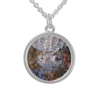 Försiktig alligator -! sterling silver halsband