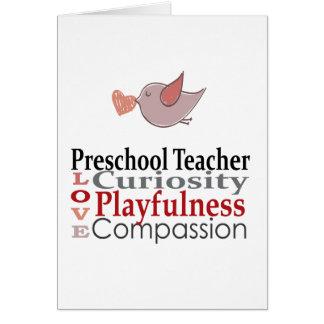 Förskole- lärare hälsningskort