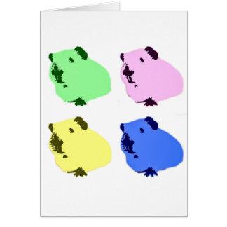 Försökskaninpopkonst verkställer kortet hälsningskort