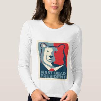 Först björnpresidentkvinna skjorta för långärmad t-shirts