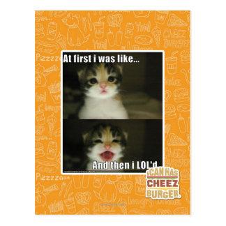 Först var jag lik vykort