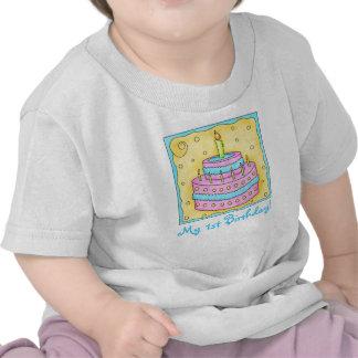 Första (1st) skjorta för utslagsplats för födelsed t shirt