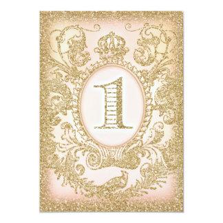 Första födelsedag en gång på en Time Princess 12,7 X 17,8 Cm Inbjudningskort