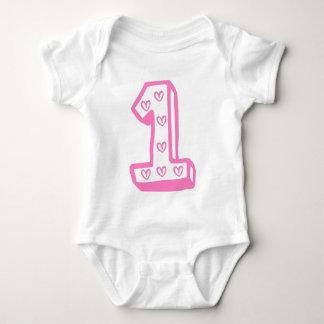 Första födelsedag för lycklig t-shirts