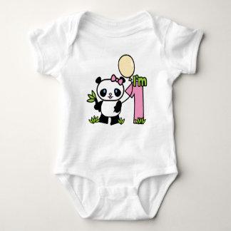 Första födelsedag för Pandaflicka Tee Shirt