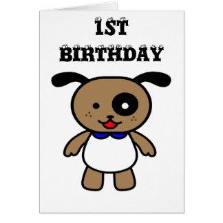 Första födelsedag hälsningskort