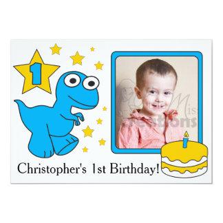 Första födelsedag Invitaions - Dinosaurs 12,7 X 17,8 Cm Inbjudningskort