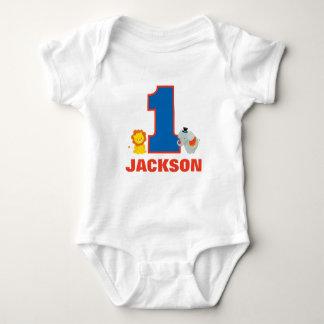 Första födelsedagdräkt för cirkus, babyJersey T-shirts