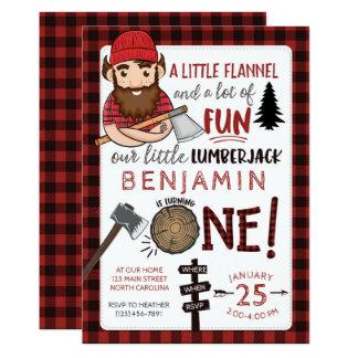 Första födelsedaginbjudan för Lumberjack, 1st 12,7 X 17,8 Cm Inbjudningskort