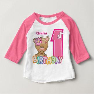 Första födelsedagnalle för liten flicka t-shirts