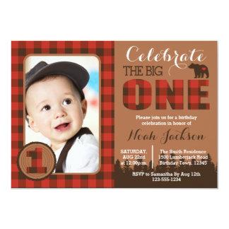 Första födelsedagsfest inbjudan för Lumberjack