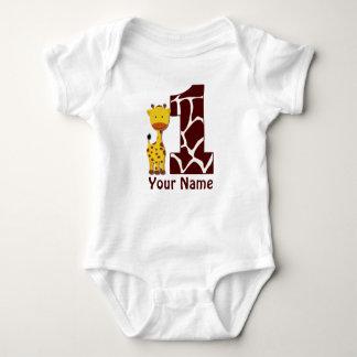Första födelsedagskjorta för giraff t shirt