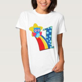 Första födelsedaguggla tee shirt