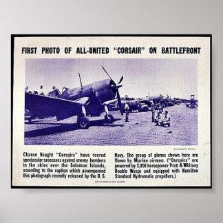 Första foto av denFörenade corsairen på Poster