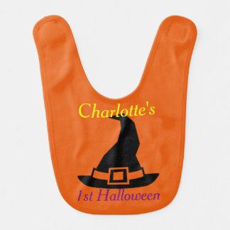 Första Halloween häxa personlig för hatt Hakklapp