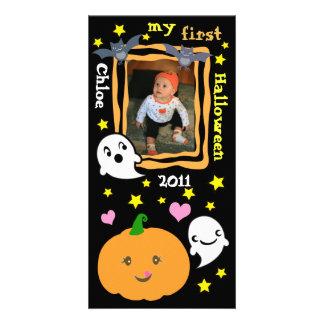 Första Halloween Kawaii beställnings- fotokort