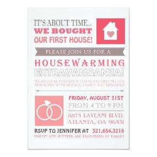 Första hus- & årsdaginbjudan 12,7 x 17,8 cm inbjudningskort